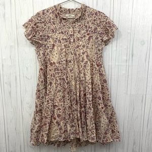 ISABEL MARANT ETOILE FLORAL BOHO CHIC DRESS 36